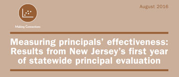 Brown title page of the Principals' Effectiveness report