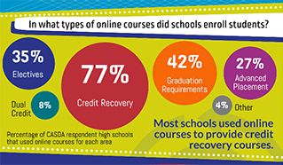 Online Course Use in New York High Schools Infographic