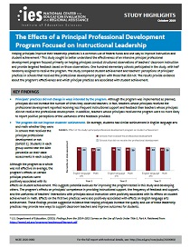 Impact Evaluation of Support for Principals: Report