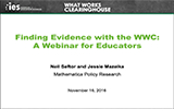 Finding Evidence with the WWC