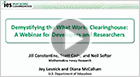 Demystifying the What Works Clearinghouse: A Webinar for Developers and Researchers