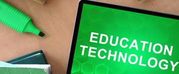 tablet that says education technology