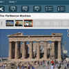 An image of the Parthenon displayed in an app