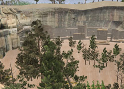 Virtual representation of Mesa Verde National Park